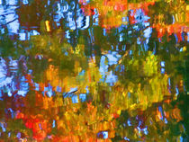 Fall leaves on river 12 by lanjee chee