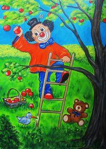 Apfelernte - Clown Nr. 6 - by Ulrike Sallós-Sohns