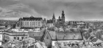 Wawel Castle in Black and White, Krakow, Lesser Poland, Poland, Europe by Torsten Krüger