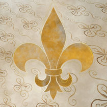 goldene Fleur de Lis by Christine Bässler