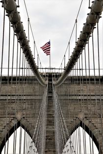 Brooklyn Bridge Stone Tower, Teilansicht by assy