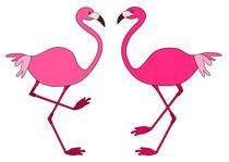 Flamingos by Jutta Ehrlich