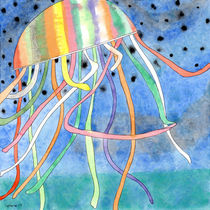 Rainbow Colored Jelly Fish  by Heidi  Capitaine