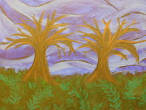 Twin Trees Standing Bastian by A. Hawkins