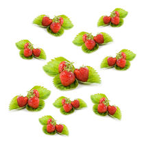 Red strawberries fruits on leaves by Arletta Cwalina