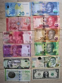 viele verschiedene Geldscheine von assy
