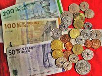 dänisches Geld, Öre und Kronen von assy