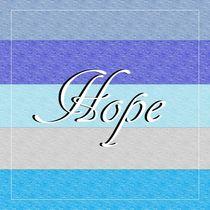HOPE on Blue von eloiseart