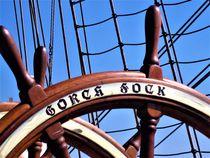 Gorch Fock, das große Ruder, Teilansicht von assy