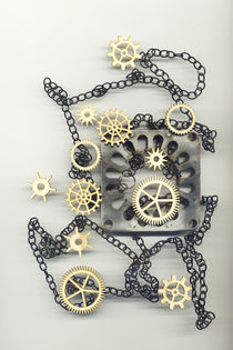 Still life with Gears and glands by Valentin Ivantsov