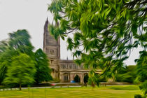 St Mary's Church. Thornbury. (Digital Art) von John Wain
