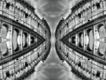 Retro Kolosseum im Spiegelbild von kattobello