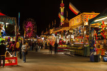 Evergreen State Fair Midway by Jim Corwin