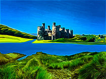Conway Castle (Digital Art) by John Wain