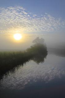 Sonnenaufgang über der Flusslandschaft  by Bernhard Kaiser