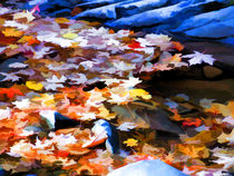 Withered leaves falling by lanjee chee