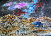 Der Mond.Begegnung von zwei Zivilisationen. by Victor Filippsky
