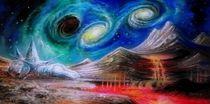Dual-Galaxie und das schwarze Loch. by Victor Filippsky