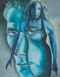The woman behind a man von Kerstin Koy