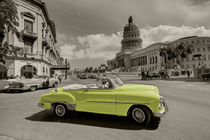 Yellow Convertable  by Rob Hawkins