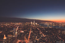 Sunset Downtown Manhattan - View from Empire State Building by Jean-Marc Papi
