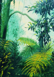 Rainforest Lights and Shadows painting by bluedarkart-lem