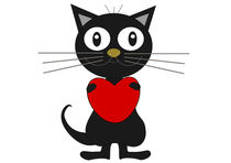 Black cat by Jutta Ehrlich
