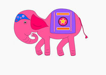 Pink elephant von Jutta Ehrlich