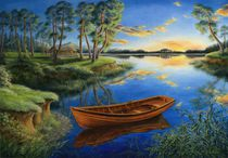 Pine lake von Galyna Schaefer