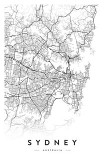 SYDNEY CITY MAP von nordik