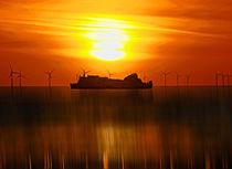 Belfast Ferry (Digital Art) by John Wain