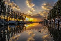 Der Jachthafen in Moos kurz nach Sonnenaufgang - Bodensee by Christine Horn
