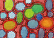 Abstract Moving Round Shapes Pattern  von Heidi  Capitaine