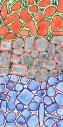 Summer Heat over Refreshing Water Pattern by Heidi  Capitaine