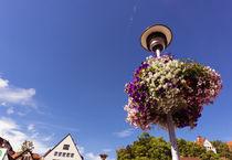 Blumendekoration an einer Strassenbeleuchtung von andreas-marquardt