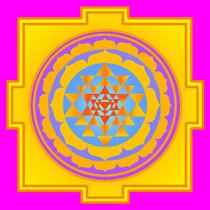 Sri Yantra Sunny von regalrebeldesigns