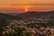 Weststadt im Sonnenuntergang von Ralf Zimmermann