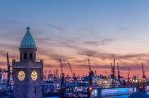 Landungsbrücken im Abendrot von bilderharmonie