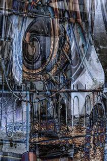 Auf dem Balkon - Abstrakte Architektur  von Chris Berger