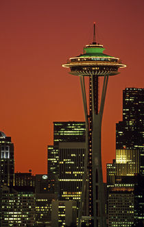 Space Needle at Sunrise by Jim Corwin