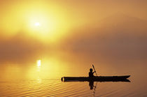 Morning Sunrise with Kayaker by Jim Corwin
