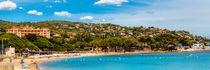 Der Strand von Sainte Maxime an der Cote d'Azur in Südfrankreich von Thomas Klee