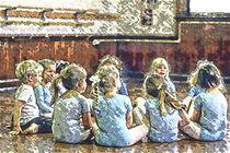 Ballet Class Taking A Break by Jim Corwin
