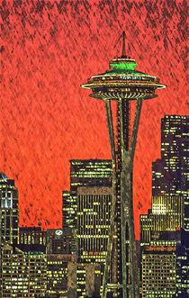 Space Needle Sunset by Jim Corwin
