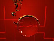 roter Wasserball von Stefanie Keller