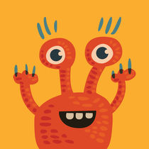 Funny Orange Happy Creature von Boriana Giormova