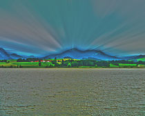 Mountains behind the lake von Michael Naegele