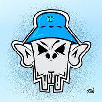 B-Boy Skull Design by Vincent J. Newman