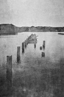 Steg im See by Petra Dreiling-Schewe