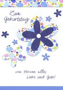 Geburtstagskarte mit Blauen Blumen von seehas-design